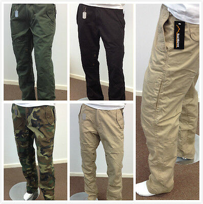 Mens Outdoor Camping Fishing Work Travel pants Army Combat Military Cargo Pants