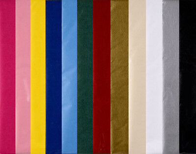 Sheets of Best Quality Coloured Tissue Paper - Choice of Colours