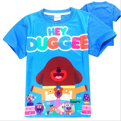 New Cotton Boys Casual Hey Duggee Cartoon T shirt Kids Cute Tops Party Clothes