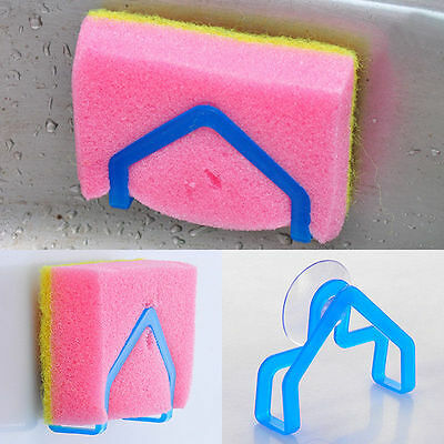 1 x Kitchen Tool Storage Dish Cloth Sponge Sink Tub Holder Rack Suction Cup   AT