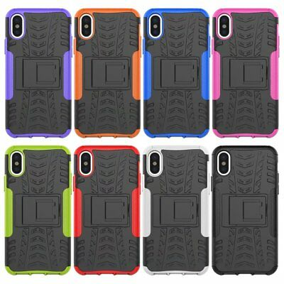 10pcs/lot Combo Kickstand Case Hyun Pattern Shockproof Hybrid Cover for iPhone X