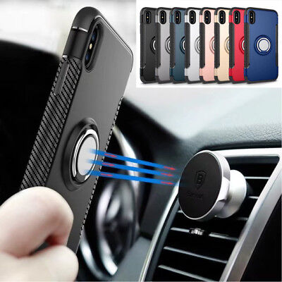 10pcs/lot Hybrid Armor Case ShockProof Stand Magnetic Hard Cover for iPhone X