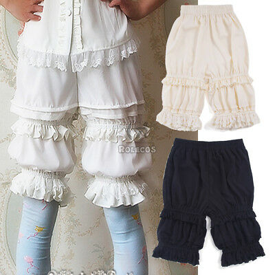 Lolita Bloomers Lace Pumpkin Ruffles Long Shorts Underpants Cosplay USA Ship