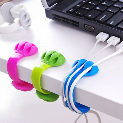 Headphone Headset Wire Wrap Cord Winder Organizer Data Cable Collector Silica
