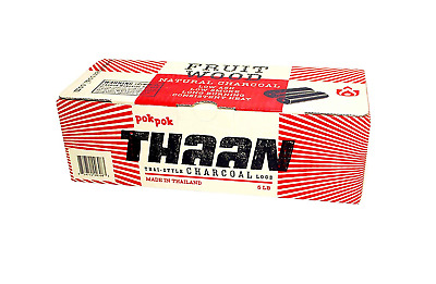 Pok Pok Thaan Thai Style Charcoal Logs 5 lb Style Charcoal logs Long Burning