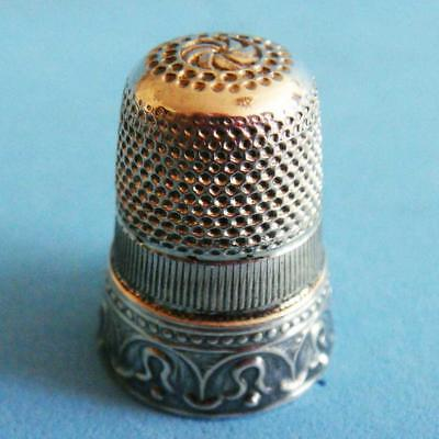 L@@k Beautiful Vintage Sterling SILVER Ornate Decoration Sewing Thimble!