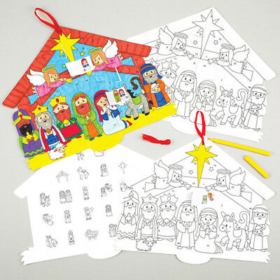 Nativity Advent Calendars Perfect For Crafts & Decorating (Pack of 3)