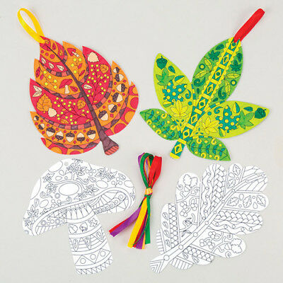 Autumn Creative Colouring Decorations for Children (Pack of 8)