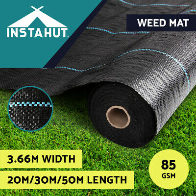 3.66m Weedmat Weed Control Mat Woven Fabric Gardening Plant 30m/50m/100m