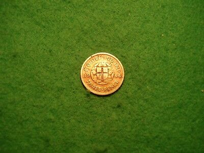1944 silver threepence collectable grade FREEPOST