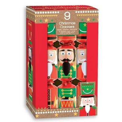 Nutcracker Christmas Crackers Box Of 9 Includes Game Joke & Party Hat XK9NUT