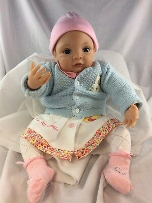 Ashton Drake Waltraud Hanl Realistic Baby Doll Female Blonde Fair