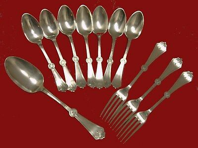 Lot 1847 Rogers Brothers Persian Antique Victorian Silver Plates Spoons & Forks