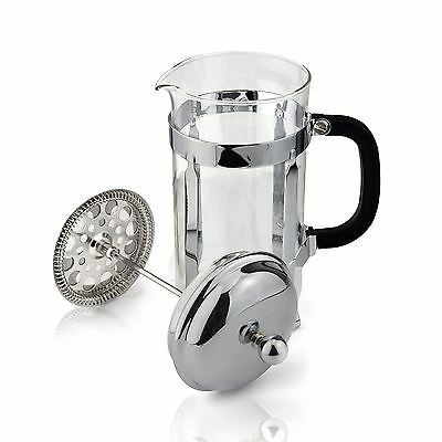 Cafe Ole 12-Cup Classic Coffee Maker Glass Cafetiere, Chrome Finish, 1500 ml