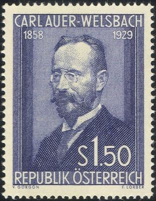 Austria 1954 Carl A v.Welsbach/Chemist/Science/Chemistry/Inventor/Gas 1v at1098a