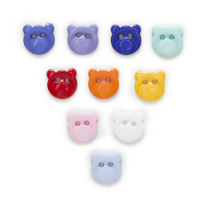 50pcs Resin Buttons Bear Sewing Scrapbooking Handwork Clothing Home Decor 13mm