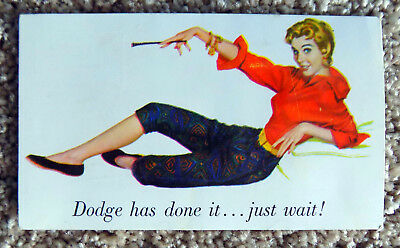 1955 O'Brien Motors Dodge Advertisement / Postcard Costa Mesa,Ca. Free Ship