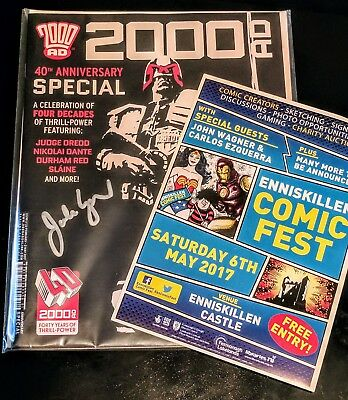 2000ad 40th Anniversary Special **1st Print Dredd cover signed by John Wagner**