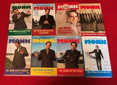 LOT of 7 MONK TV SERIES NOVELS by LEE GOLDBERG, Mr Monk and the New Lieutenant