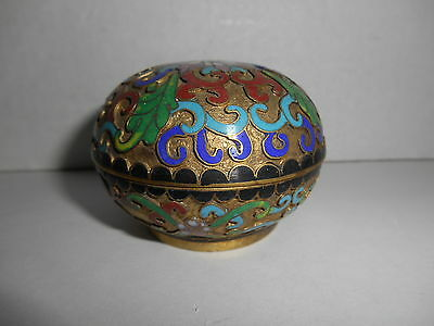 Cloisonne Trinket Box Round With Cover