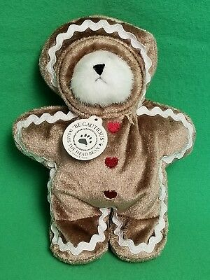 "Gen-Yoo-Wine 6"" Boyds Bear With Gingerbread & Pumpkin Outfits"