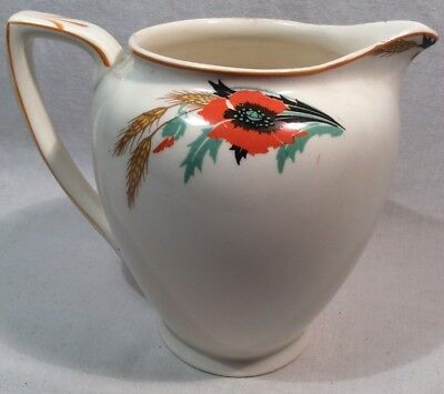 """Lovely Collectable Vintage Jug By Alfred Meakin, England With """"Poppy"""" Pattern"""