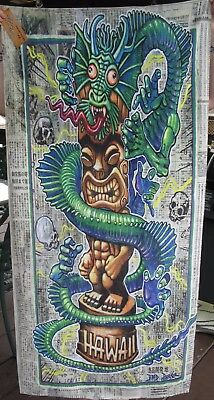 Tiki Towel Brad Parker Limited Edition Fink Dragon vs Souvenir #25/50 not a mug