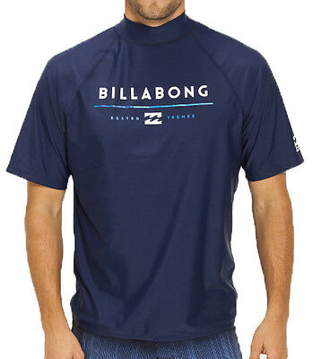 New +Tag Billabong Mens Xxxl Tri Unity Wetshirt Rash Vest Relax Fit Short Sleeve