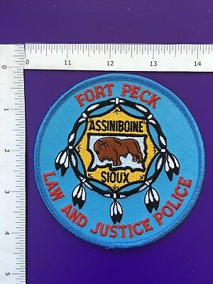 Fort Peck Montana Law And Justice   Police Shoulder Patch