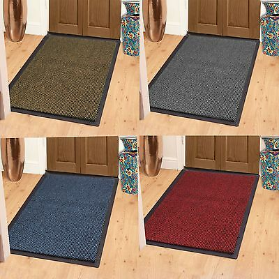 Rubber Back Heavy Duty Non Slip Barrier Mat Large & Small Rugs Door Home Office