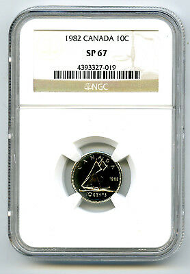 1982 Canada Specimen 10 Cent Ngc Sp67 Dime...rare Only 2 Known
