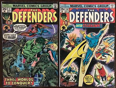 The Defenders 27 (FN-) and 28 (FN). 1st  Starhawk. Guardians of the Galaxy.