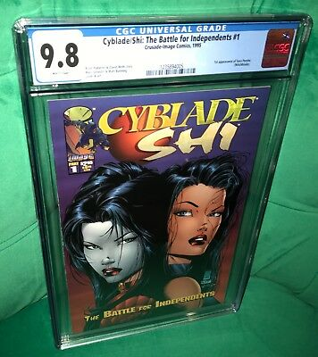 Cyblade/Shi: The Battle for Independents 1. 1st appearance Witchblade. CGC 9.8