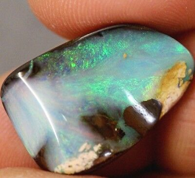 Natural Australian BOULDER OPAL SOLID CUT STONE 18.35 cts