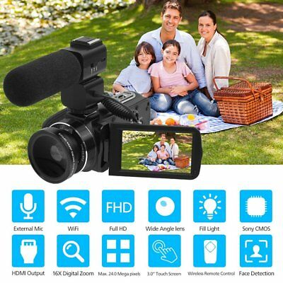 ORDRO Digital Camera HDV-Z20 Wifi Professional Video Camcorder HD 1080P Journali