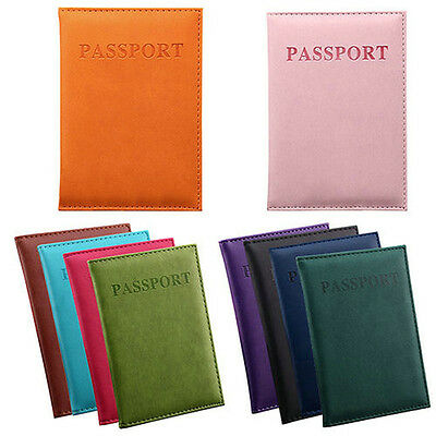 PU Leather Nice Travel Passport ID Card Cover Holder Case Protector Organizer