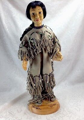 Robert Raikes Taipa Doll Native American Limited Edition Stand Signed Base #/500