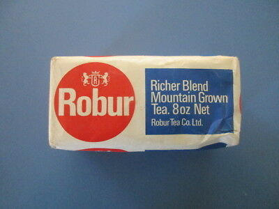 Vintage Full Unopened Half Pound Packet Of Robur Tea