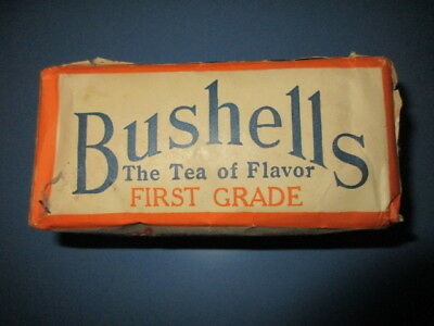 Vintage Full Unopened Half Pound Packet Of Bushells Blue Label Tea 46