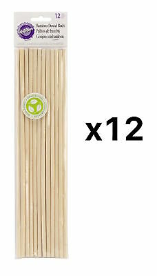 Wilton Bamboo Dowel Rods 12 Pack Eco-friendly Renewable Resource (12-Pack)