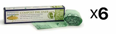 RSVP 100% Biodegradable Compostable Liners/Bags 50 Count Pack 6 Liters (6-Pack)