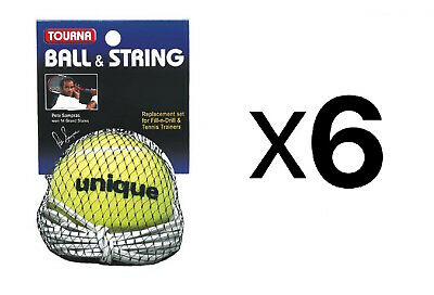 Tourna Ball-String Replacement-Fill N Drill Trainer-Sampras Trainer (6-Pack)