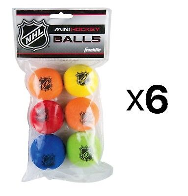 "Franklin Sports Indoor Outdoor NHL Shot Zone Mini 2"" Foam Hockey Balls (6-Pack)"