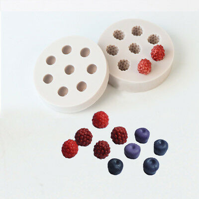 3D Mulberry & Raspberry Fondant Cake Soap Mould Chocolate Candle Mold Decor Tool