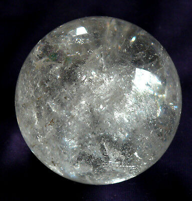 Beautiful Ball Rock Crystal Polished, with holzstanduß, 178, 4 G Diameter 50mm,