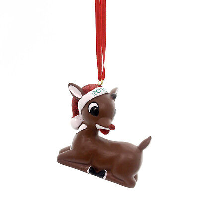 Holiday Ornaments RUDOLPH 2016 DATED Polyresin Red-Nosed Reindeer 4051613