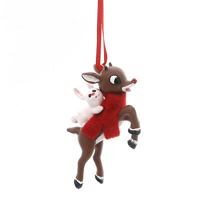 Holiday Ornaments RUDOLPH AND BUNNY Polyresin Red-Nosed Reindeer 4051607
