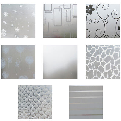 Home PVC Glass Bathroom Window Privacy Film Stickers Frosted Decor 200*60cm