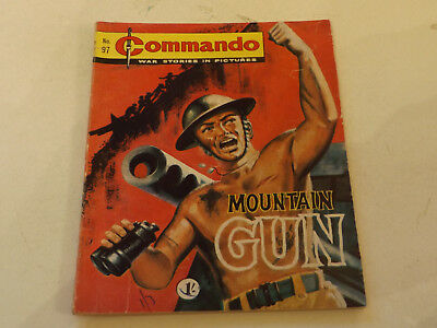 Commando War Comic Number 97!!,1963 Issue,good For Age,54 Years Old,v Rare.