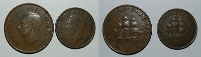 Old South Africa Penny & Half Penny